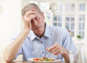 Снижение аппетита - симптом недостаточности правого желудочка