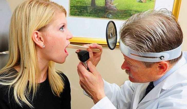 Диагностика заболевания горла