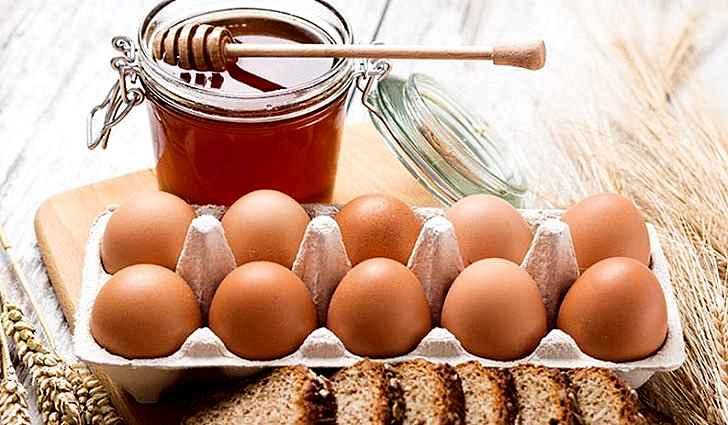 Яйцо и цветочный мед