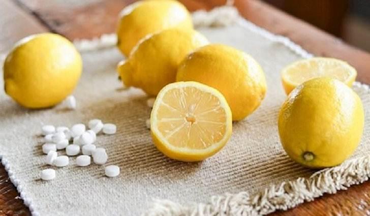 Лимон с аспирином для лечения косточки на ноге