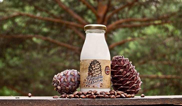 Молоко и сливки из кедровых орехов