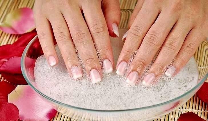 Солевые ванночки для укрепления ногтей